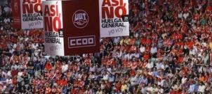 Manifestation en espagne à l'appel de l'UGT et des CCOO