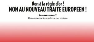 Non à la règle d'or ! Non au nouveau traité européen !