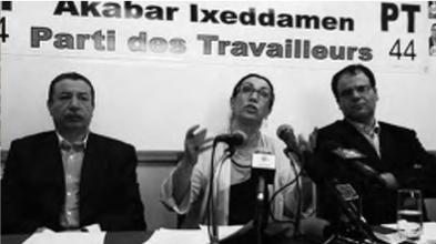 Conférence de presse de Louisa Hanoune le 12 mai 2012