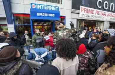Les employés des fast food newyorkais en grève.