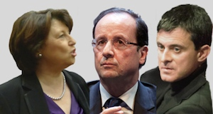 Aubry gouvernement Valls Hollande