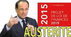 Budget 2015 Hollande austérité