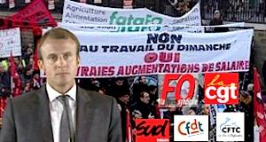 Travail dimanche nuit intersyndicale contre projet Macron