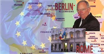 Italie gouvernement élections Berlin Schäuble
