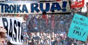 Portugal manifestation contre l'austérité la troika