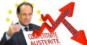 Chômage salaires gouvernement hollande Union européenne