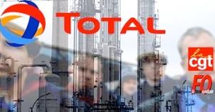 Total raffineries grève à l'appel CGT et FO