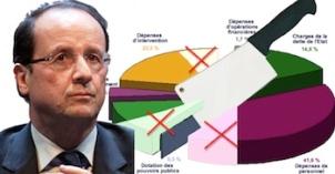 Etat trop lourd Hollande coupes budget