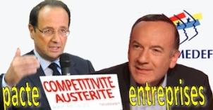 Pacte de responsabilité Gattaz inspire Hollande