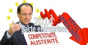 Voeux Hollande 2014 pacte entreprise