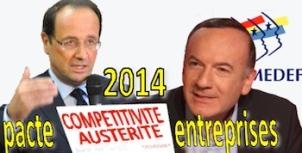 Voeux Hollande pacte de responsabilité Gattaz