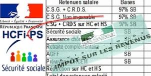 Haut conseil financement protection sociale csg non déductible