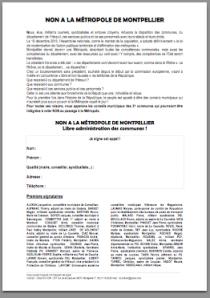 L'appel des élus et militants de l'Hréault contre la métropole de Montpellier