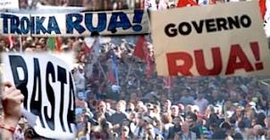 Portugal grève fonctionnaires governo rua