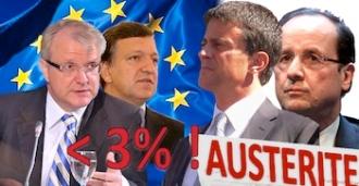 Déficit public Union européenne gouvernement Hollande Valls