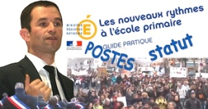 Education nationale Hamon rythmes scolaires postes opposition