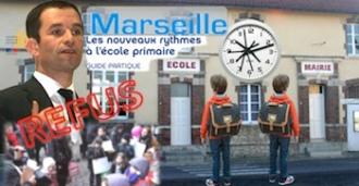 Rythmes scolaires rentrée 2014 refus Marseille