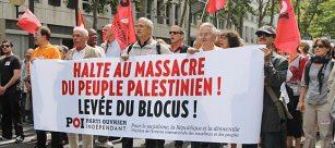Par milliers à Paris pour la levée du blocus de Gaza.