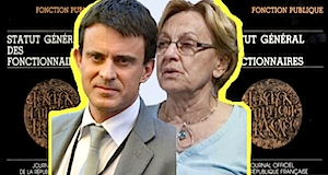 Fonction publique remise en cause statut carrière Valls Lebranchu