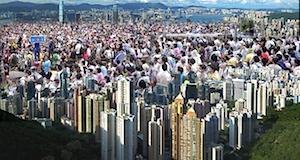 Hong Kong manifestation massive devant siège gouvernement sept2014