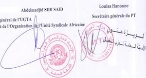 signatures UGTA PT