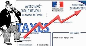 Impôts taxes augmentation