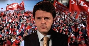 Italie manifestation Matteo renzi