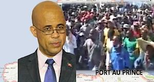 Haiti Martelly manifestations