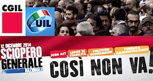 Italie grève 12décembre2014 cgil uil