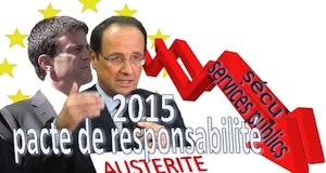 pacte de responsabilité mise en oeuvre 2015 Hollande Valls