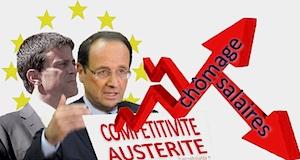Salaires SMIC chômage gouvernement Hollande Valls