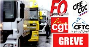 Chauffeurs routiers grève