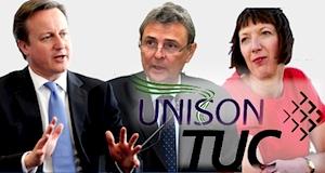 Grande Bretagne Cameron droit de grève syndicats TUC UNISON OGrady Prentis