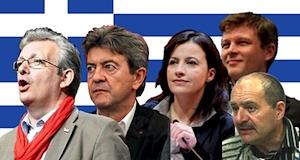 Laurent Mélenchon Duflot Sabado Balas meeting Grève syriza