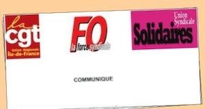 COMMUNIQUE FO CGT SOLIDAIRE