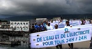 Comores grève manifestation contre le délestage