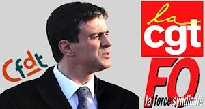 Dialogue social Valls passage en force contre syndicats