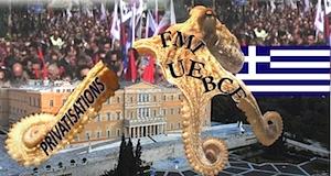 Grèce arrêt privatisations contre Troïka