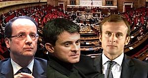 Hollande Valls loi Macron 49-3