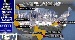 USA grève raffineries