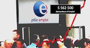 chômage nombre chômeurs hausse février2015