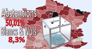 Départementales 2015 2ème tour abstentions