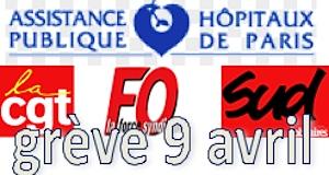 Hôpitaux de Paris grève CGT FO SUD