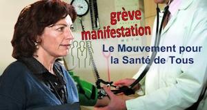 Santé grève manifestation des professionnels