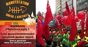 Belgique manifestations contre l'austérité